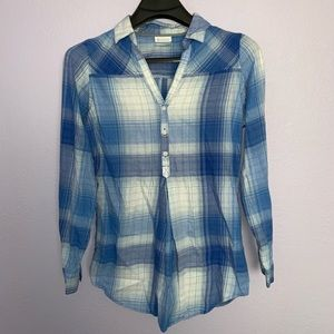 Columbia flannel shirt sz S long sleeve top blue